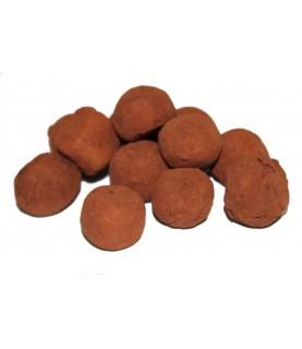 Boules de massepain cacao